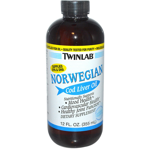 Twinlab Norwegian Cod Liver Oil Plain