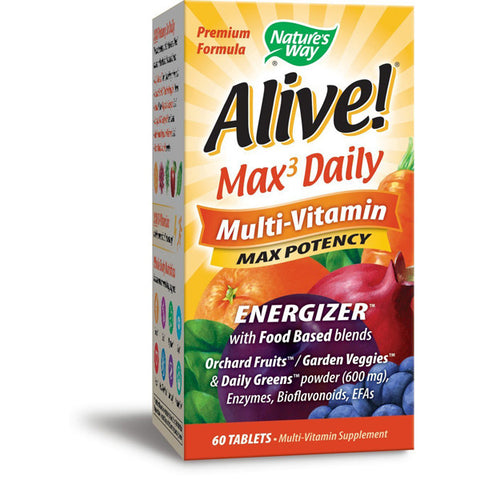 NATURES WAY - Alive! Max3 Daily Potency Multi-Vitamin Iron Free