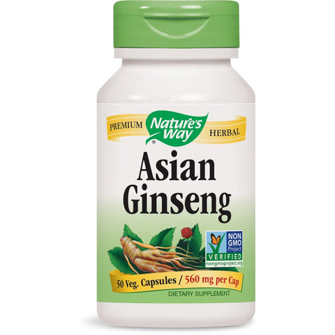 NATURES WAY - Asian Ginseng Root 560 mg