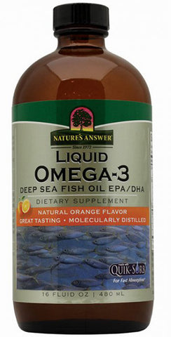 Natures Answer Liquid Omega 3 Deep Sea Fish Oil