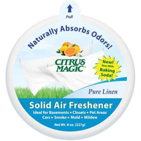 CITRUS MAGIC - Solid Air Freshener Odor Absorbing Pure Linen