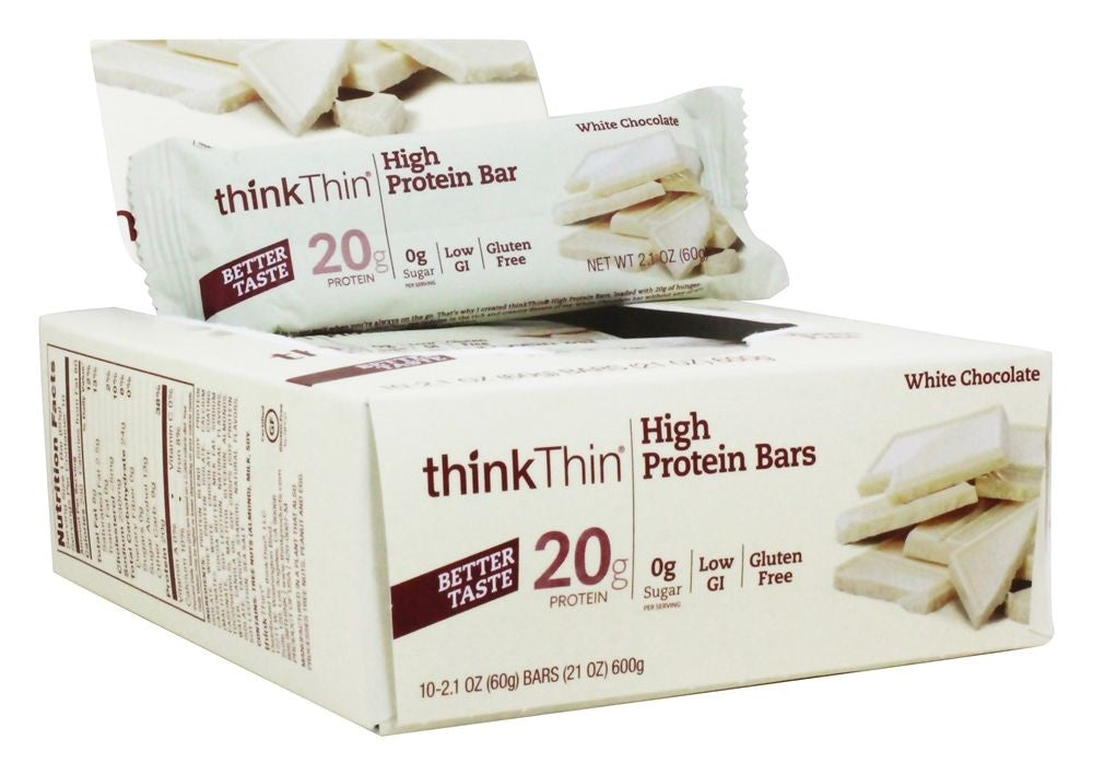Think Products ThinkThin Protein Bars White Chocolate Chip