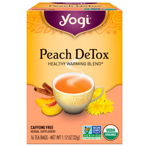 YOGI TEA - Peach DeTox Organic Cleansing Tonic Tea