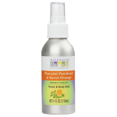 Aura Cacia - Aromatherapy Mist Patchouli Sweet Orange - 4 fl. oz. (118 ml)