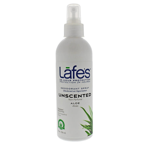 LAFES - Deodorant Spray Unscented, with Aloe Vera