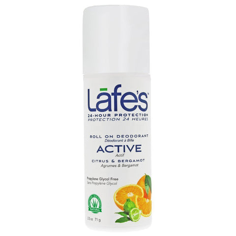 LAFES - Deodorant Roll-On Active, Citrus & Bergamot