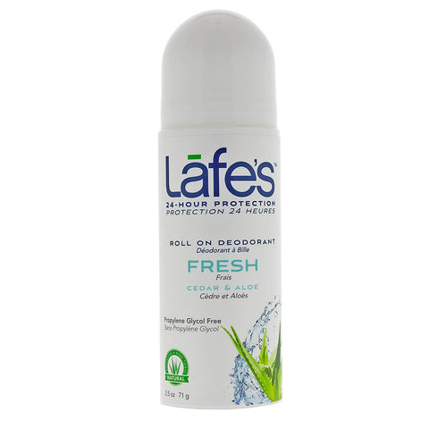 LAFES - Deodorant  Roll-On Fresh, Cedar & Aloe