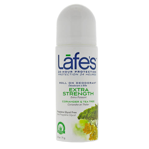 LAFES - Deodorant Roll-On Extra Strength, Coriander & Tea Tree