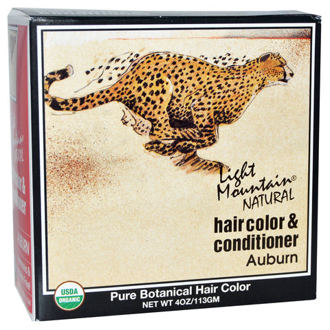 Light Mountain Natural Hair Color Conditioner Kit Auburn