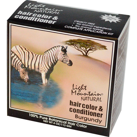 Light Mountain Natural Hair Color Conditioner Burgundy