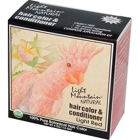 Light Mountain Natural Hair Color Conditioner Kit Light Red