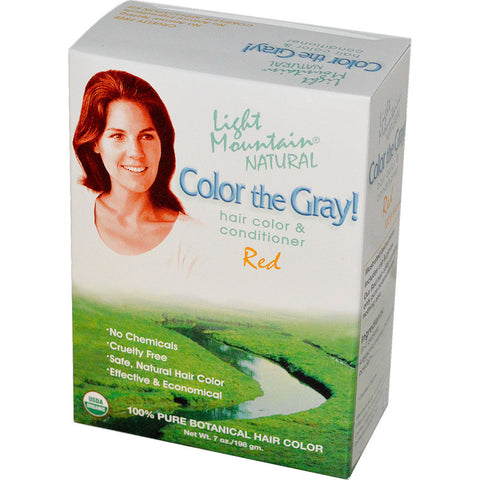 LIGHT MOUNTAIN - Color The Gray Natural Hair Color and Conditioner Red