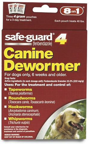 8 IN 1 - Safe-Guard Canine DeWormer for Large Dogs