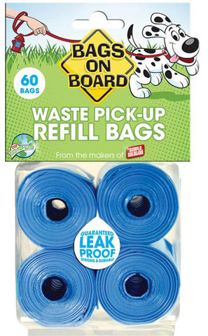 Blue Bag Refill Pack - 4 x 15 Bag Rolls