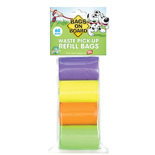 Rainbow Bag Refill Pack - 4 x 15 Bag Rolls