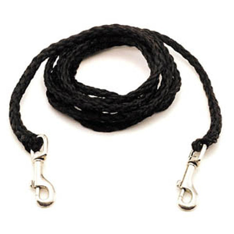 Nylon Poly Dog Tie-Out Black