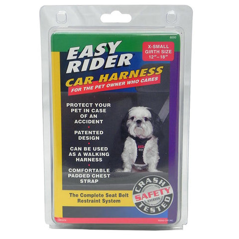 Nylon Car Harness Black for X-Small Dogs