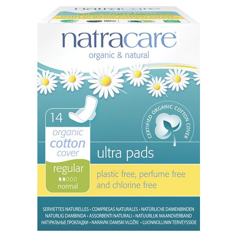 NATRACARE - Natural Feminine Ultra Pads Regular with Wings