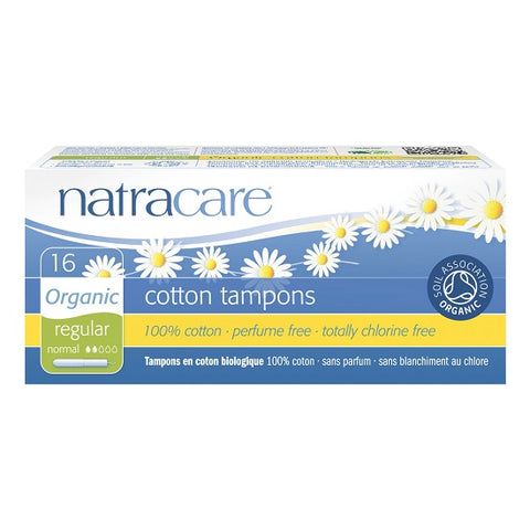 NATRACARE - Organic All Cotton Tampons with Applicator Regular