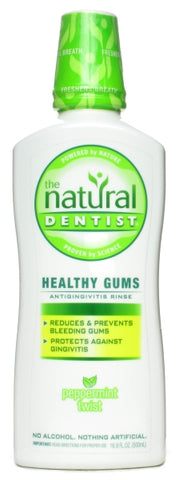 Natural Dentist Healthy Gum Mouth Rinse Peppermint Twist