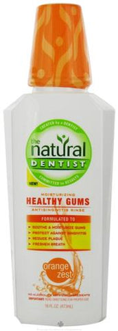 Natural Dentist Healthy Gums Mouth Rinse Orange Zest