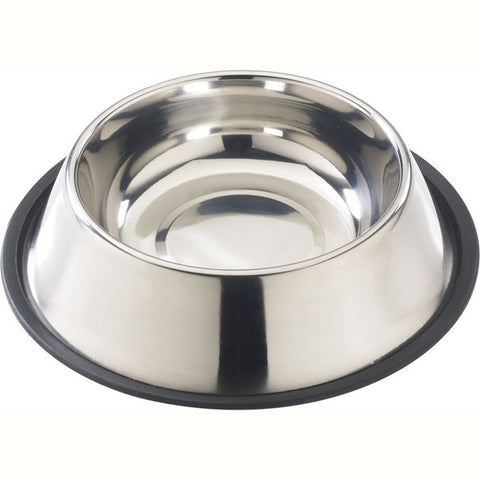 Stainless Steel No Tip Mirror Dish Dog Bowl