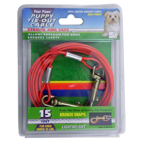 Four Paws - Puppy Tie-Out Cable Orange