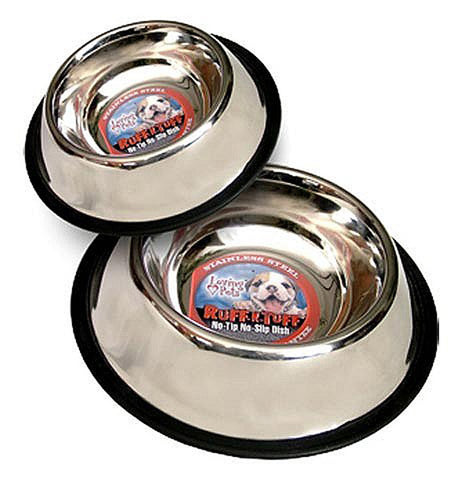 3 Quart No Tip Stainless Steel Dog Dish - 1 Dish