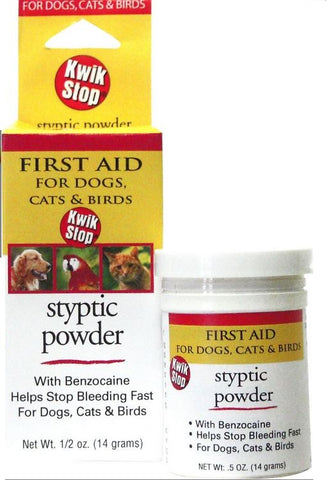 Styptic Powder for Dogs, Cats & Birds - 1/2 oz.