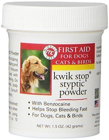 Styptic Powder for Dogs, Cats & Birds - 1.5 oz.