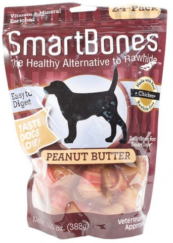 Peanut Butter Chews Dog Treat Mini 2 - 24 Bones