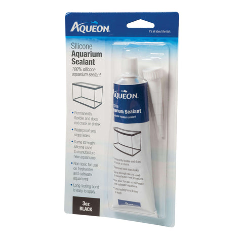 All Glass Aquarium - Silicone Aquarium Sealant Black - 3 oz.