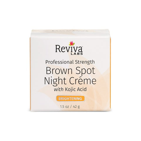 REVIVA LABS - Brown Spot Night Cream with Kojic Acid