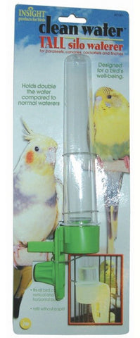 JW Pet Company - Clean Water Silo Bird Waterer Tall -