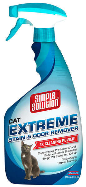 SIMPLE SOLUTION - Extreme Cat Stain & Odor Remover Spray