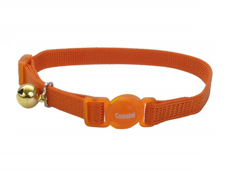 Coastal Pet Products - Nylon Adjustable Breakaway Cat Collar Sunset Orang