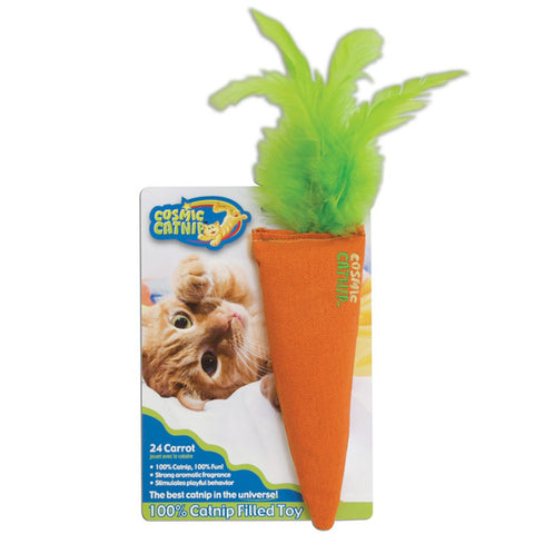 OUR PETS - 100-Percent Catnip Filled Carrot Cat Toy 24 Karat