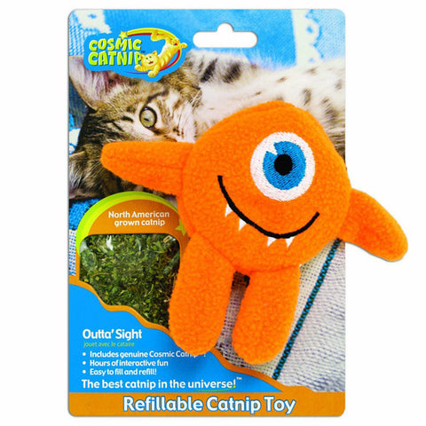 OUR PETS - 100% Catnip Filled Cyclops Cat Toy Outta Sight
