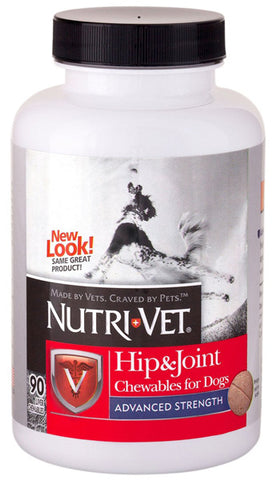 NUTRI-VET - Hip & Joint Advanced Strength Chewable Tablets for Dogs