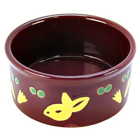 "Super Pet - Paw-Print PetWare Bunny Bowl - 4.25"" Diameter"