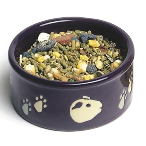 "Super Pet - Paw-Print PetWare Guinea Pig Bowl - 4.25"" Diameter"