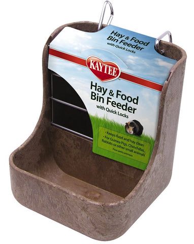 SUPERPET - Kaytee Hay-N-Food Bin Feeder with Quick Locks Colors Vary