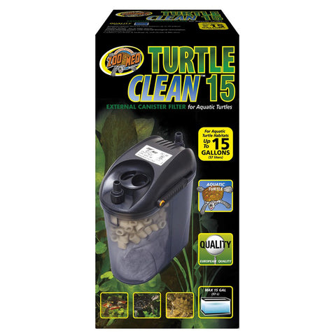 Zoo Med Laboratories - Turtle Clean 15 External Canister Filter - 15 Gallons