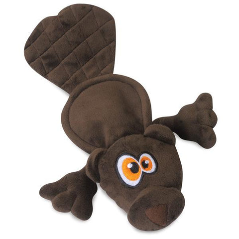 HEAR DOGGY - Flatty Beaver Dog Toy Brown