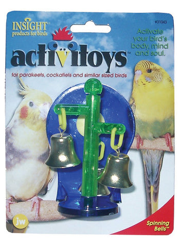 JW PET Insight Activitoy Spinning Bells Bird Toy