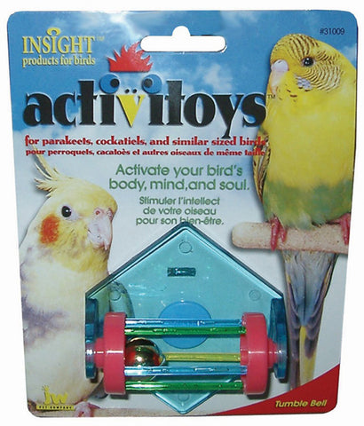 JW PET Insight Activitoy Tumble Bell Bird Toy