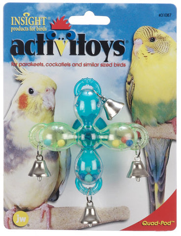 JW PET Insight Activitoy Quad Pod Bird Toy