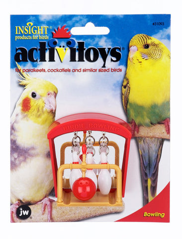 JW PET Insight Activitoy Birdie Bowling Bird Toy