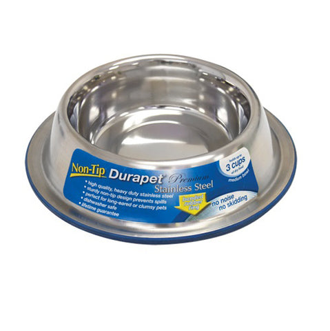 OUR PETS COMPANY - Durapet Non-Tip Bowl - Small