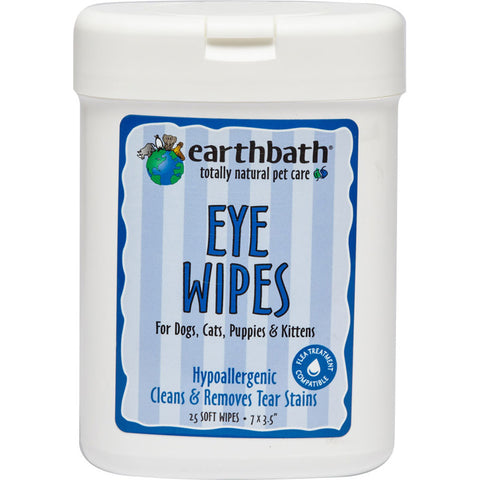 EARTHBATH - Eye Wipes for Dogs, Cats, Puppies and Kittens